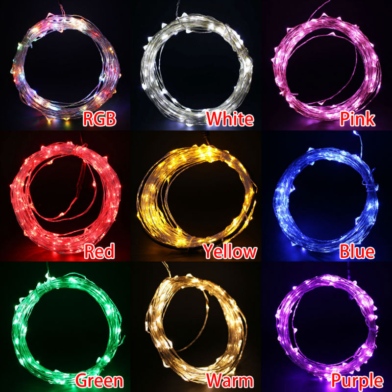 led string lights 10M 5m 33ft 5V USB powered waterproof Warm white RGB copper wire christmas Wedding Party Garland Fairy Lights - LADSPAD.COM