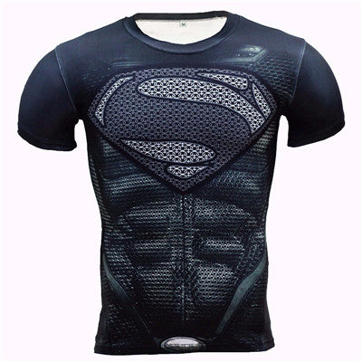 Batman Spiderman Ironman Superman Captain America Avengers Costume Superhero Soldier Marvel Comics Mens Style Long T shirt - LADSPAD.UK