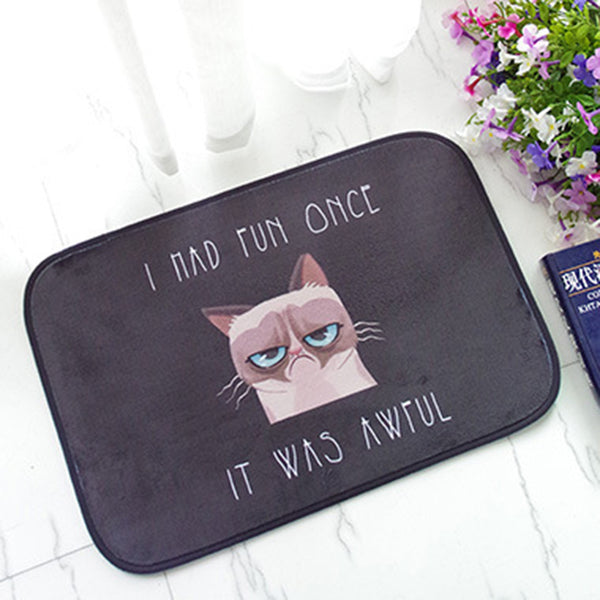 USPIRIT Door Mat Funny Bath Room Floor Mat Euoropean Popular Tapete Para Quarto Black Color Doormat For Entrance Door - LADSPAD.UK