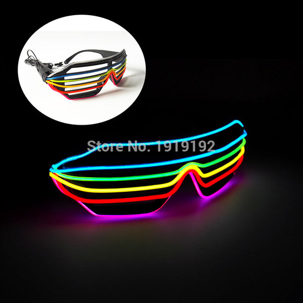 6 or 7 Color Flashing EL LED Glasses Luminous Party Lighting Colorful Glowing Classic Toys For Dance DJ,Party Mask by 3V Driver - LADSPAD.COM