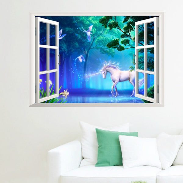 Magical Unicorn Wall Sticker - LADSPAD.UK