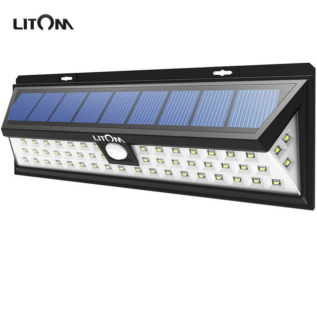 LITOM 54 LED Solar Lights Night lampion Motion Sensor Waterproof Outside Wall Patio Yard LED Solar Lighting Energy Garden Lamp - LADSPAD.UK