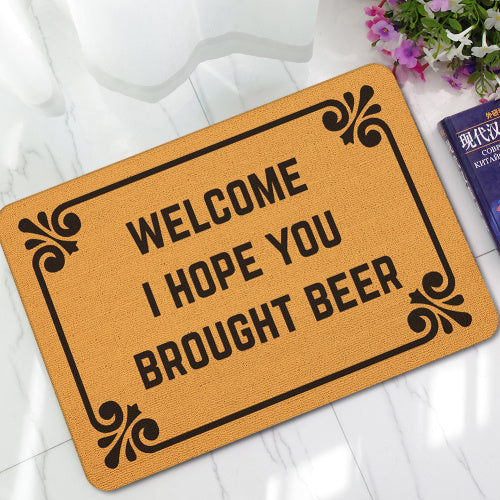 MDCT Funny Jokes Welcome Floor Mats Anti-slip Outdoor Door Mats 40x60cm Hallway Parlor Bath Rubber Rugs Carpet Hi I am Mats - LADSPAD.COM