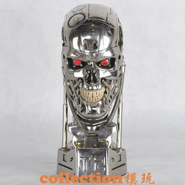 DHL NEW 1:1 Terminator T800 T2 Skull Endoskeleton Lift-Size Bust Figure Resin Replica LED EYE Best Quality WU562 - LADSPAD.UK