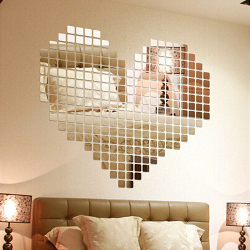 Hot Sale 100 Pieces/set Plastic DIY Self-adhesive Mirror Wall Stickers - LADSPAD.COM