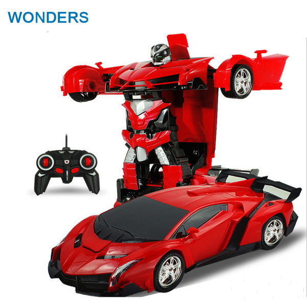 Transformers RC Car Sports Car Robot - LADSPAD.UK