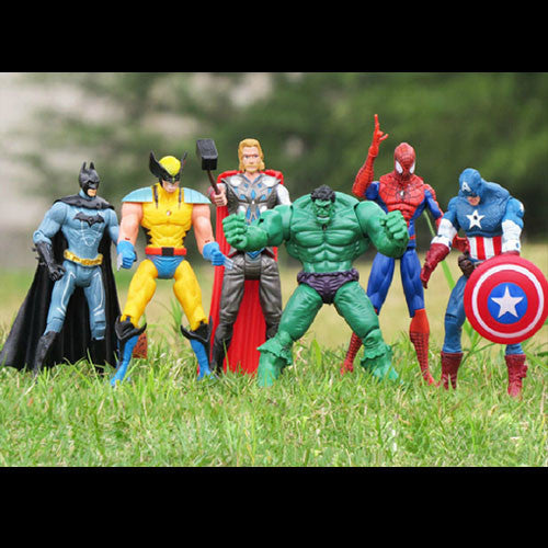 Super Hero Action Figure Collectable Set - LADSPAD.UK
