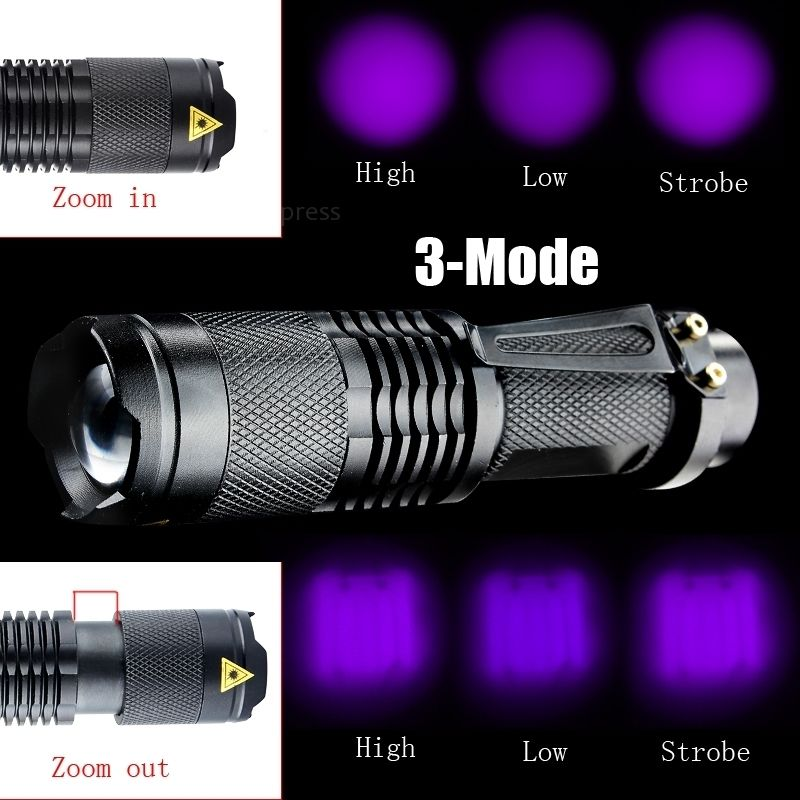 Zoomable Led UV Torch - LADSPAD.UK