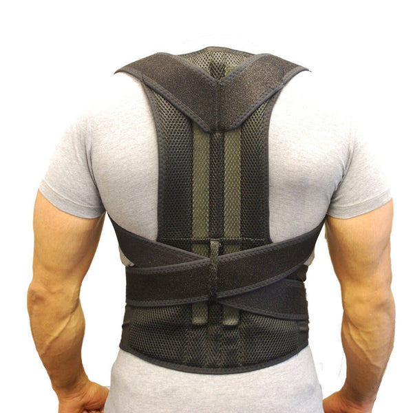 Back Support Belt Orthopedic Posture Corset Back Brace Support Men Back Straightener Round Shoulder Men's Posture Corrector B003 - LADSPAD.COM