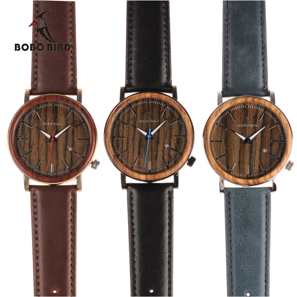 BOBO BIRD Newest Wooden Metal Watch for Men - LADSPAD.UK