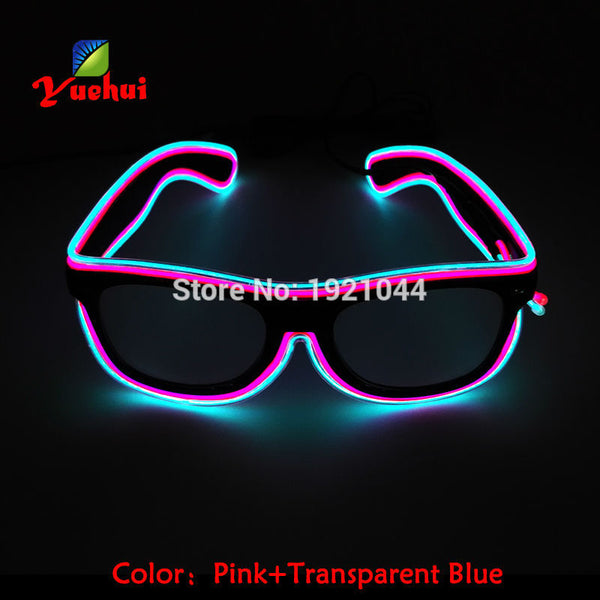 Double Colors Sound Activated EL wire Led Glasses Lighting Colorful Glowing Glasses Luminous glasses For Party Decoration Gifts - LADSPAD.COM