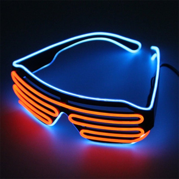 Neon Party EL Glasses EL Wire Neon LED Sunglasses Light Up Glasses Rave Costume Party DJ SunGlasses Birthday Party Decor - LADSPAD.UK