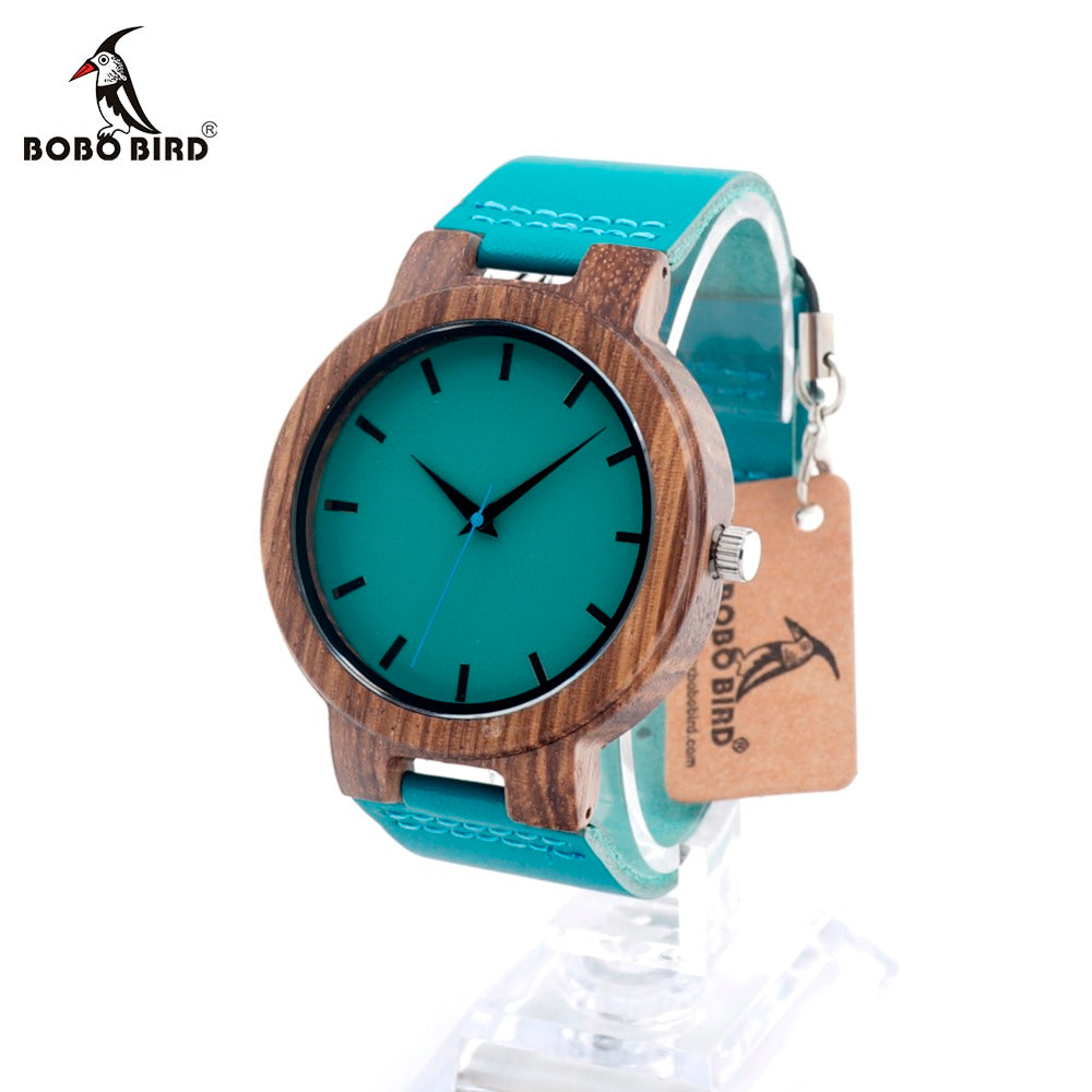BOBO BIRD C-C28 Wood Wristwatches Fashion Antique Erkek Watch with Leather Band Casual Quartz Watch for Unisex in Paper Gift Box - LADSPAD.UK