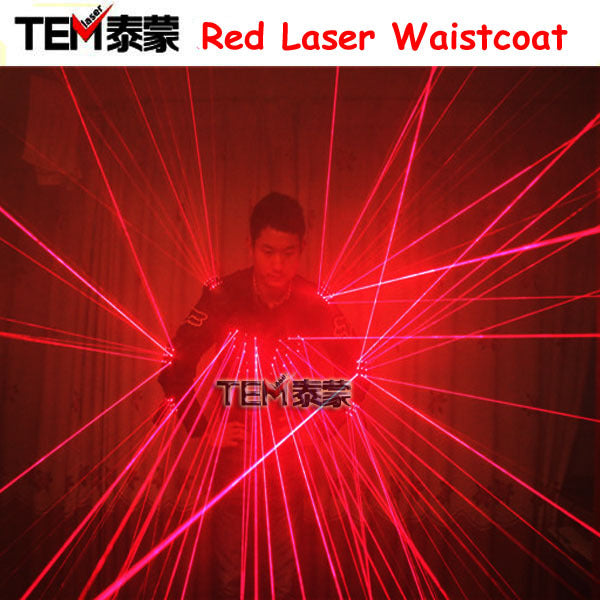 Free Shipping Red Laser Waistcoat LED Clothes,  Laser Suits, 650nm Laser Man Costumes For Nightclub Performers - LADSPAD.UK