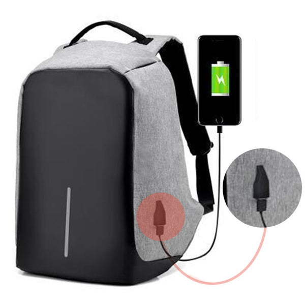 16Inches  Antitheft External USB Charging Backpack - LADSPAD.UK