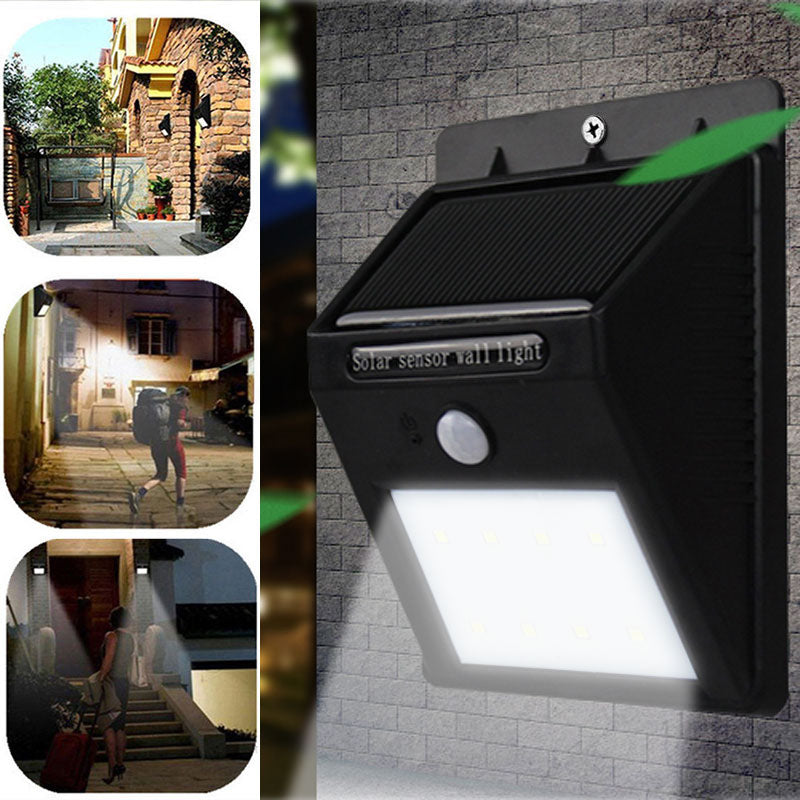 LED Solar Powered Wireless Security Waterproof Motion Sensor Light 8 LED Light Outdoor Pathway Wall Lamp Lighting--M25 - LADSPAD.UK