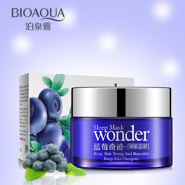 BIOAQUA Wonder Natural Blueberry Sleeping Mask - LADSPAD.UK