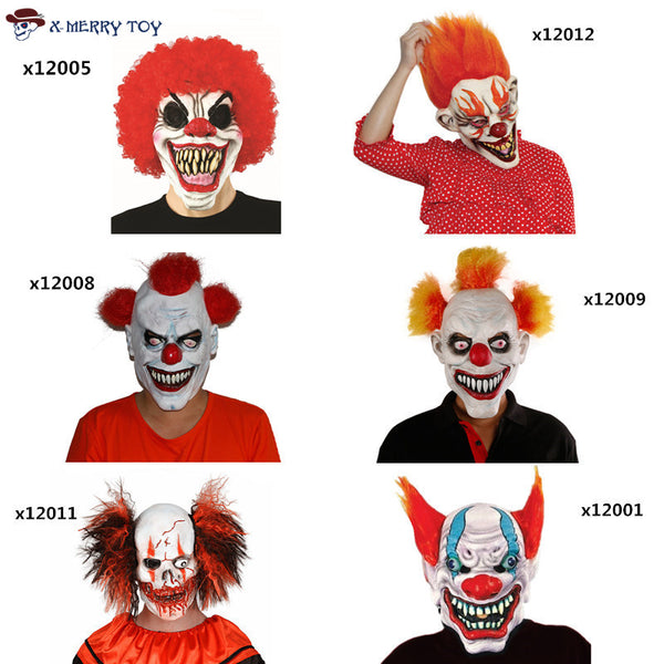 Variety Scary Clown Masks - LADSPAD.UK