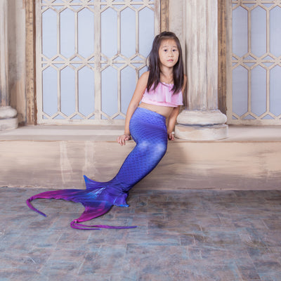 Adult and Children's Swimming Mermaid Tails with Bra - LADSPAD.UK