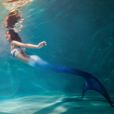 Adult and Children's Swimming Mermaid Tails with Bra