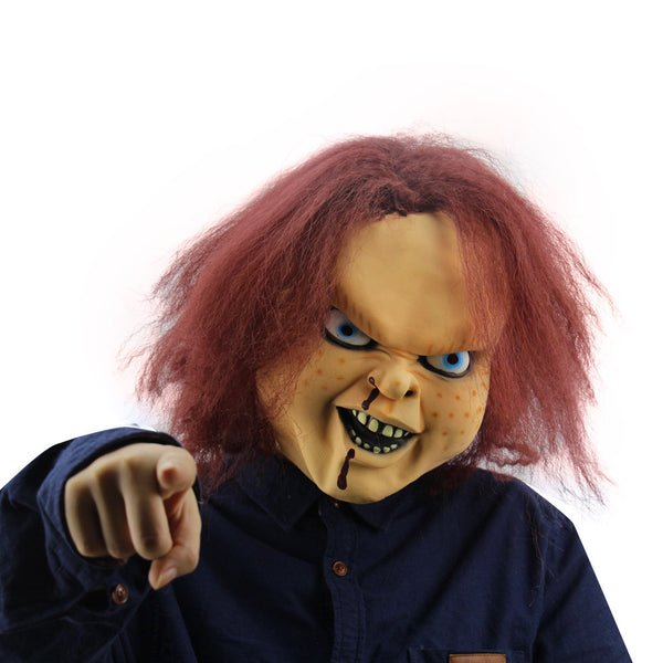 Chucky Doll Mask Costume Halloween Childs Play - LADSPAD.COM