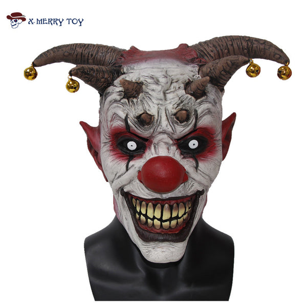 Jingle Jangle The Clown Horror Latex Halloween Scary Head Mask - LADSPAD.UK