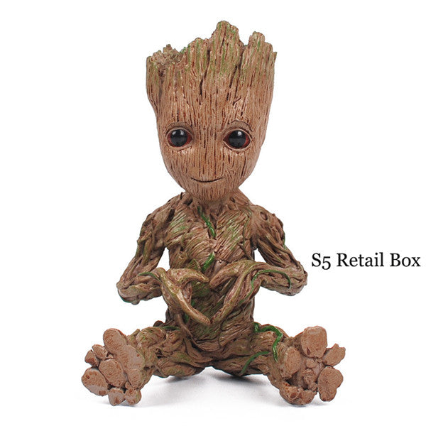 New Arrival 17.5cm Expressions Groot Figure Toy Marvel Movie Guardians of the Galaxy Anime Tree Man Resin Collection Model Boy - LADSPAD.UK