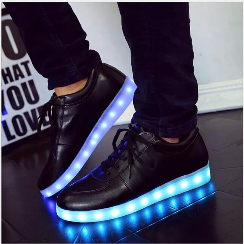 KKABBYII Glowing sneakers Usb charging shoes do with Lights Up colorful Led tenis simulation Kids Luminous sneaker - LADSPAD.COM