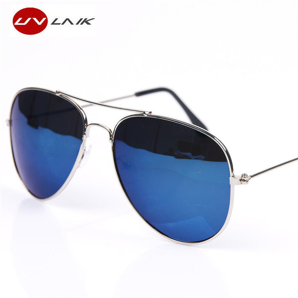 UVLAIK Aviation Sun Glasses For Men Women Brand Designer Vintage Masculine Sunglasses Female Male Glasses Women's Men's Goggle - LADSPAD.UK