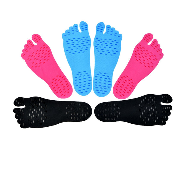 High Quality Adhesive Foot Pads Feet Sticker Stick On Soles Flexible Anti-slip Beach Feet Protection 1 Pair Foot Pads   H7JP - LADSPAD.COM