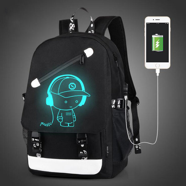 Senkey Style Cartoon USB Backpack - LADSPAD.COM