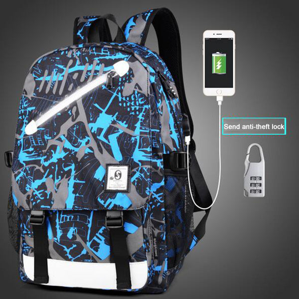 Senkey Style Cartoon USB Backpack
