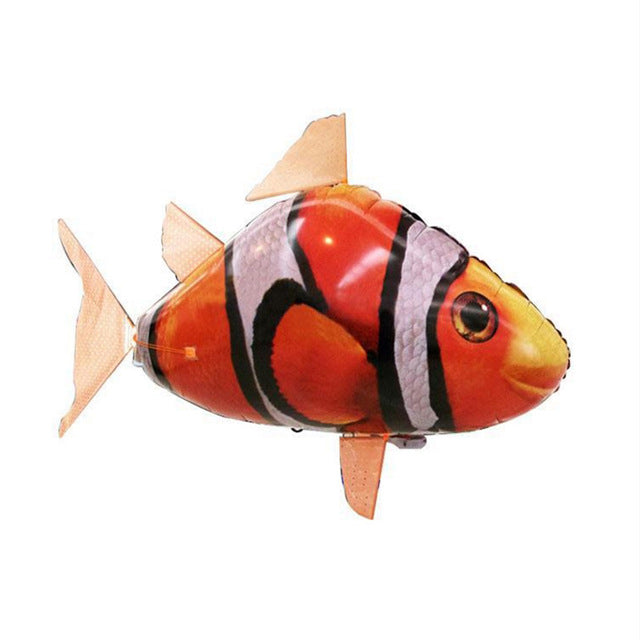 RC Air Swimming Fish Toys Drone RC Shark Clown Fish Balloons Nemo Inflatable with Helium Plane Kids RC Toys Party christma Gift - LADSPAD.COM