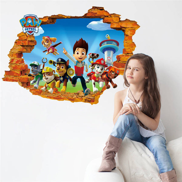 Paw Patrol Ryder Marshall Rubble Wall Sticker - LADSPAD.UK