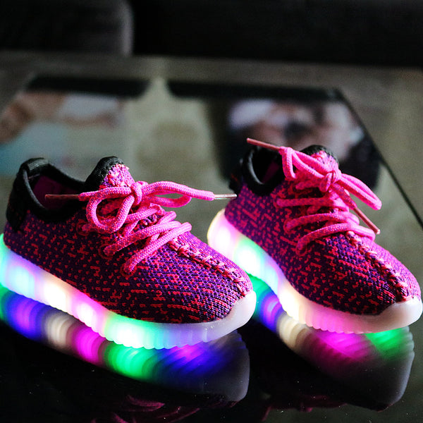 Kids LED Luminous shoes USB Charger - LADSPAD.UK