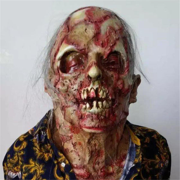 Halloween Adult Mask Zombie Mask Latex Bloody Scary Extremely Disgusting - LADSPAD.UK