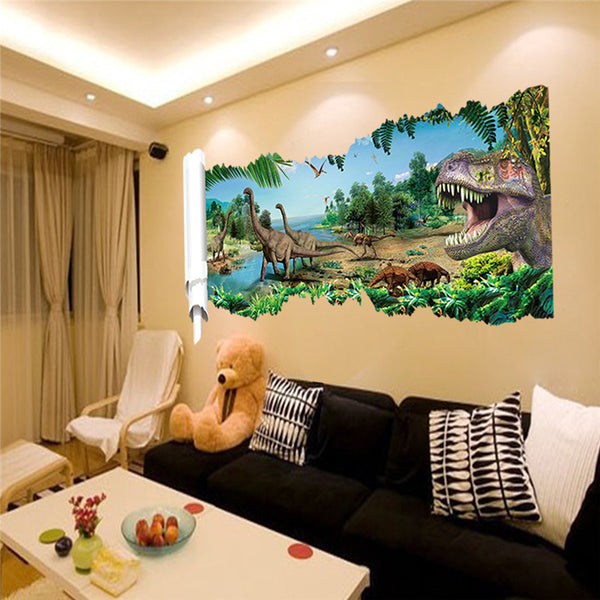 World Park Dinosaurs Wall Sticker - LADSPAD.UK