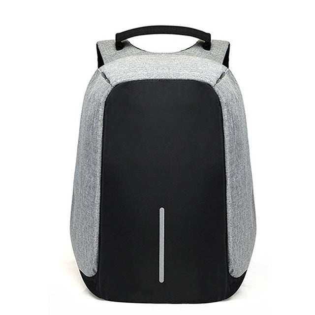 CARCHI Canvas Men's Anti Theft Backpack Bag  USB Charge 15 Inch Laptop Notebook Backpack For Men Waterproof Travel Back Pack Bag - LADSPAD.UK