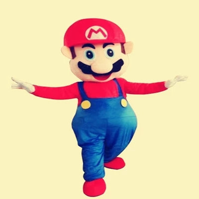 Hot selling Adult lovely Super Mario Mascot Costume fancy dress cartoon party costume+Cardboard head - LADSPAD.UK