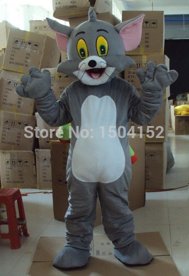 2014 New Best Quality Tom Cat Mascot Costumes Classic Animal Design Mascot Costume Halloween Christmas Birthday Free Shipping - LADSPAD.UK