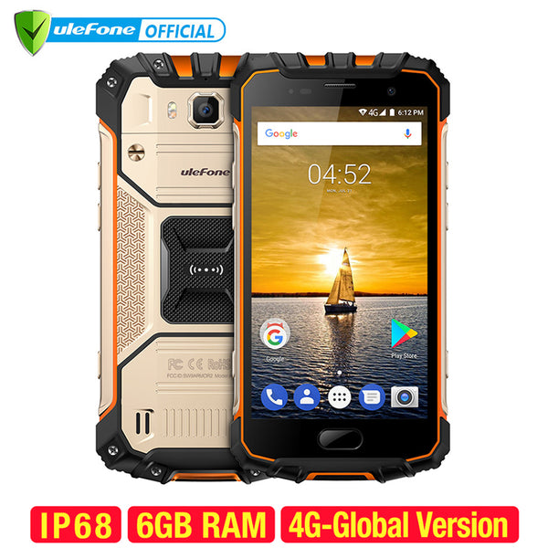 Ultimate Armour Waterproof Mobile Phone 6GB RAM 64GB ROM 16MP Cam 4G Smartphone