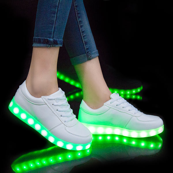 USB Charging Led Glowing Luminous Shoes - LADSPAD.COM