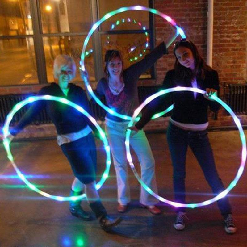 EUPHORIA LED Hula Hoops, Weighted Dance Light up Glow Hula Hoop with 20x LED Lights! - LADSPAD.UK