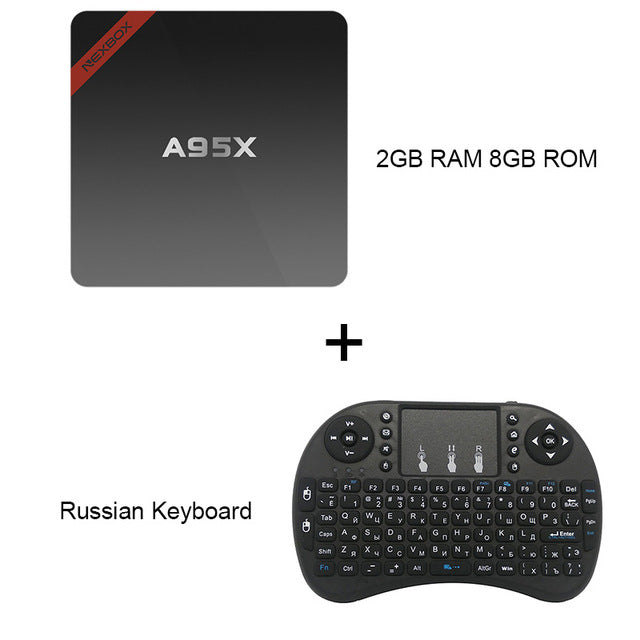 Original NEXBOX A95X Android TV Box Set-top Boxes IPTV Media Player Amlogic S905X Quad Core Android 6.0 4K HD TV Box - LADSPAD.UK