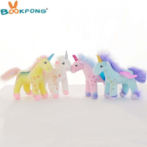 30cm Germany Angel Unicorn Plush Toy Flying Horse Cute Soft Unicorn Stuffed Animal Doll Birthday Gift Kids Gift - LADSPAD.UK