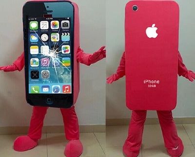 Hot sale iPhone 5C/Apple Cell Phone Mascot Costume    Adult Size - LADSPAD.UK