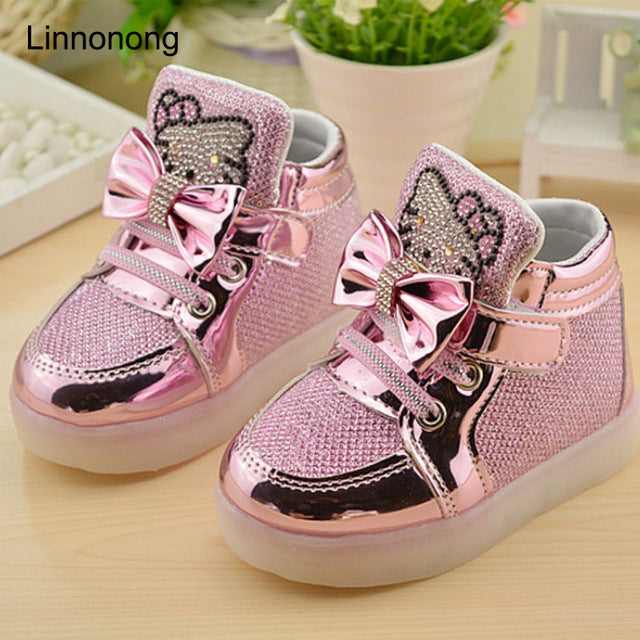 Children's Sneakers Kids Shoes For Girls Toddler Boy Casual Shoes With LED Light Up Luminous Sneakers tenis infantil - LADSPAD.UK