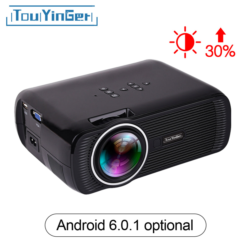Fuleadture Portable Led Projector 1080p Hd Multimedia: Mini Portable LED Projector 1800 Lumens Full HD 1080p