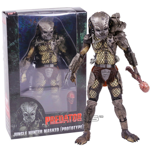 NECA PREDATOR 30th Anniversary Jungle Patrol Encounter Extraction Disguise Dutch Jungle Hunter Unmasked Demon Action Figure 18cm - LADSPAD.COM