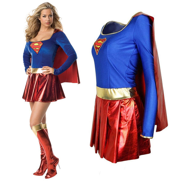 Adult Supergirl Costume - LADSPAD.UK